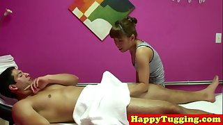 Real oriental masseuse toys with ramrod