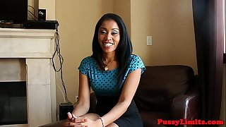 Ebony whore pussypounded after facefucked