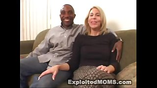 Amateur mommy gives a decision to take on a large dark dick in interracial clip