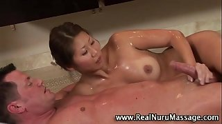 Check fetish oriental sweetheart acquire a spunk fountain
