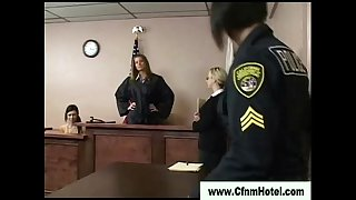 Cfnm femdom bitch take loser to court
